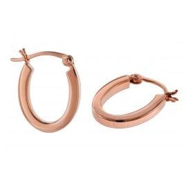 trendor 08783 Silber-Ohrringe 18 mm Roségold Plattiert