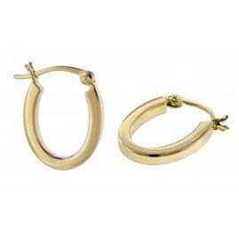 trendor 08784 Silber-Ohrringe 18 mm Goldplattiert