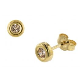 trendor 75028 Ohrringe für Damen Gold 333 mit Fancy Zirkonia 5,5 mm