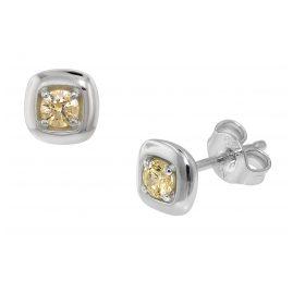 trendor 75081 Ohrringe für Damen Silber 925 mit Zirkonia 6 mm
