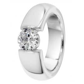 trendor 64741 Silver Ring with Zirconia