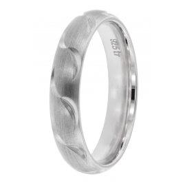 trendor 65250 Freundschaftsring 925 Silber Breite 4 mm