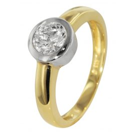 trendor 51153 Two-Colour Ladies Ring