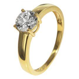 trendor 51306 Gelbgold Damenring