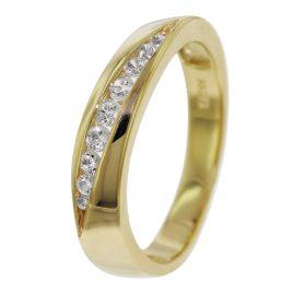 trendor 51474 Damen-Zirkoniaring Gold