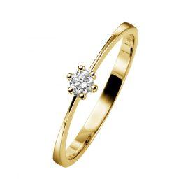 trendor 532463 Gold-Damenring mit Diamant
