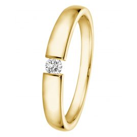 trendor 532506 Gold Ring with Diamond