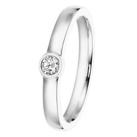 trendor 532497 Weißgold Damenring mit Diamant