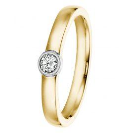 trendor 532499 Damenring mit Diamant Bicolor