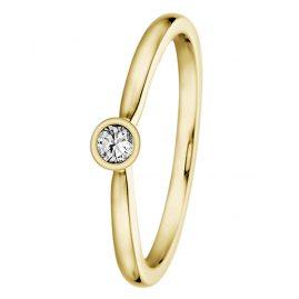 trendor 532491 Gold Damenring mit Diamant