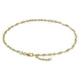 trendor 63263 Fußkettchen 333 Gold Singapur-Muster 2,2 mm breit