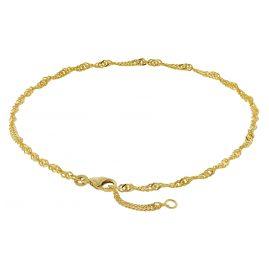 trendor 50507 Fußkettchen 333 Gold Singapur-Muster Breite 2,2 mm