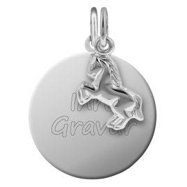 trendor 87592 Silber Kinder Gravur-Set Pferdchen