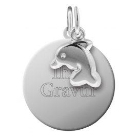 trendor 87653 Silber Kinder Gravur-Set Delfin
