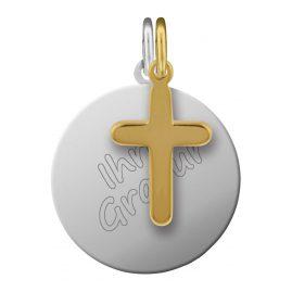 trendor 87684 Silver Engraving Set Cross