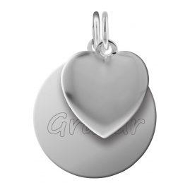 trendor 87721 Silver Pendant Engraving Set Heart