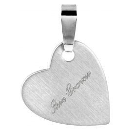 trendor 87905 Silber Gravurplatte Herz