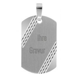 trendor 70043 Silber Gravurplatte Anhänger