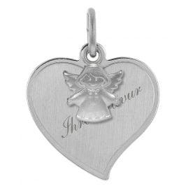 trendor 78841 Silber Gravur-Anhänger Herz mit Schutzengel