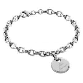 trendor 79381 Silber Armband mit Gravurplatte