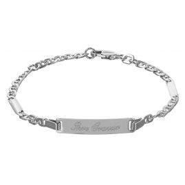 trendor 50569-16 Silber ID-Armband für Teenager
