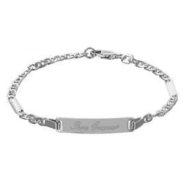trendor 50576 Silber Damen Gravur-Armband 18 cm