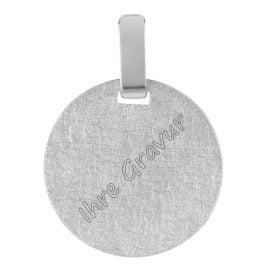 trendor 08306 Silber Gravurplatte Rund