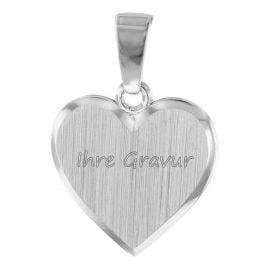 trendor 08524 Kinder Herz-Anhänger zum Gravieren Silber