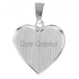 trendor 08525 Silber Gravurplatte in Herzform