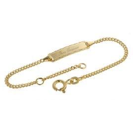 trendor 08653 Armband zum Gravieren für Kinder 585 Gold