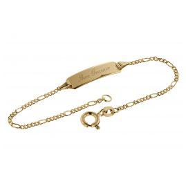 trendor 08654-14 Armband mit Gravur 585 Gold für Kinder Länge 14 cm