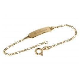 trendor 08654-14 Gravur Kinder-Armband mit Namen Gold 585
