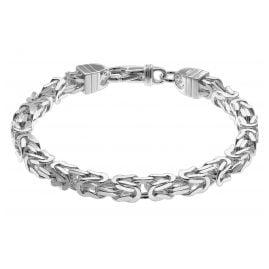 trendor 08646 Königskette Armband für Männer 925 Silber 6 mm breit