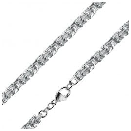 trendor 08856 Byzantine Chain Men's Necklace Silver 925