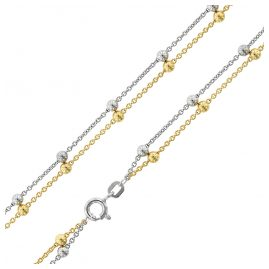 trendor 75148 Ladies' Necklace with Beads Silver 925 Two-Tone