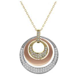 trendor 77967 Gold Chain with Three-Colour Pendant