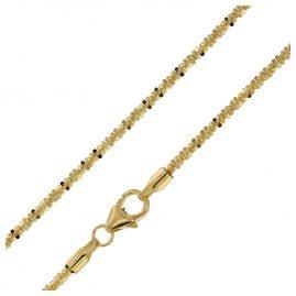 trendor 75154 Halskette für Frauen 333 Gold 8 Karat Criss-Cross Länge 45 cm