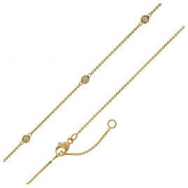 trendor 75194 Goldkette für Damen Gelbgold 375 mit Zirkonia