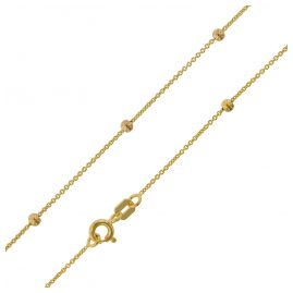 trendor 75198 Halskette mit Kügelchen Gelbgold 375 (9 Karat) Rundanker