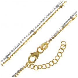 trendor 75200 Halskette zweireihig Gold 375 (9 Karat) Bicolor
