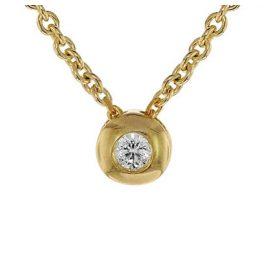 trendor 75202 Diamant-Halskette 0,05 ct WP Gold 585