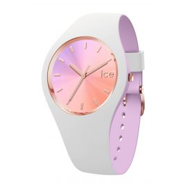 Ice-Watch 016978 Damen-Armbanduhr Duo Chic Weiß/Orchidee S