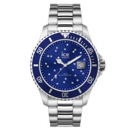 Ice-Watch 016773 Damenuhr Ice Steel Blue Cosmos Silver M