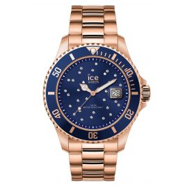 Ice-Watch 016774 Damenuhr Ice Steel Blue Cosmos Rose-Gold M