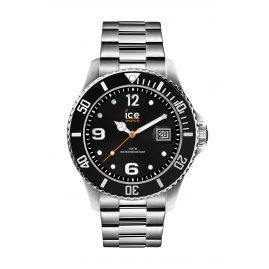 Ice-Watch 016031 Herren-Armbanduhr Ice Steel Black Silver M