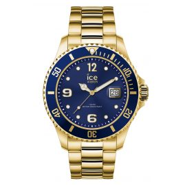 Ice-Watch 016762 Herrenuhr Ice Steel Gold Blue L
