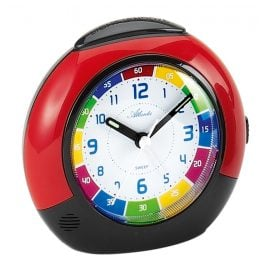 Atlanta 1678/1 Childrens Alarm Clock Red/Black
