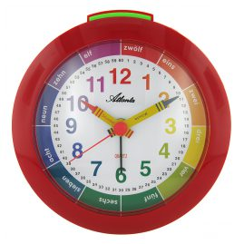Atlanta 1265/1 Childrens Alarm Clock Red