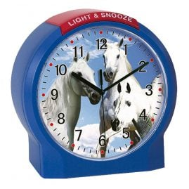 Atlanta 1189/5 Kids Alarm Clock Horses