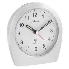 Atlanta 1824/0 Radio-Controlled Alarm Clock White